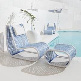 Amalfi Lounge Chair and Ottoman Cover
