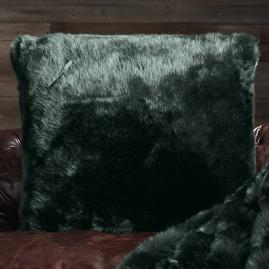 Runway Faux Fur Pillow in Pine