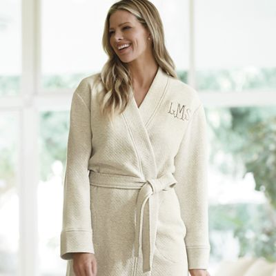 Women S Quilted Bath Robe Frontgate