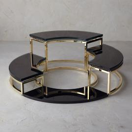 Michael Mina Tiered Stands, Set of Four