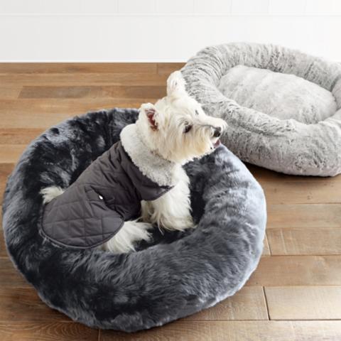 Faux Fur Pet Bed Frontgate