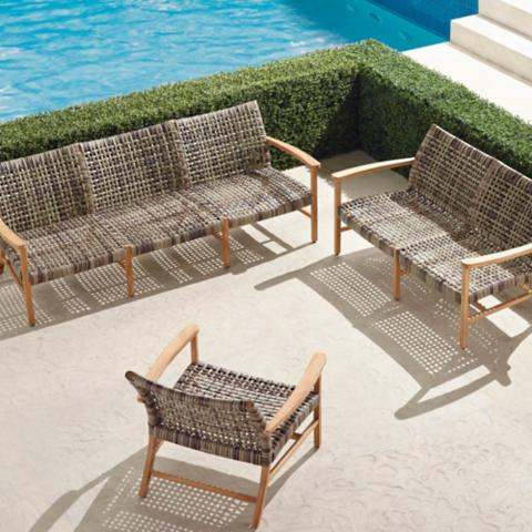 Attrayant Isola 3 Pc. Sofa Set In Natural Finish