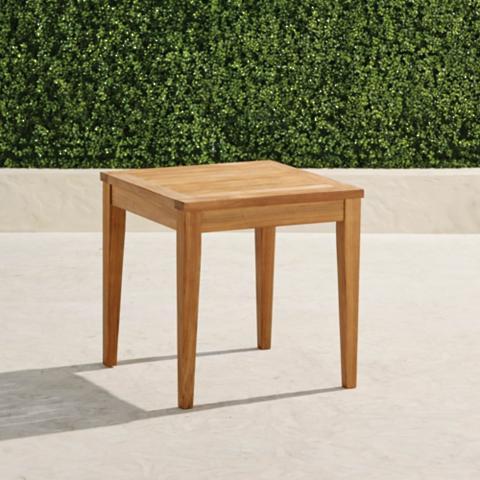 Superb Cassara Teak Side Table Natural In Natural Finish