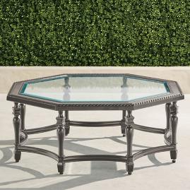Carlisle Octagon Chat Table In Slate Finish