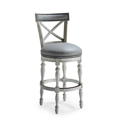 Griffith X-Back Swivel Bar Height Bar Stool (30\ H ...  sc 1 st  Frontgate & Griffith X-Back Swivel Bar Height Bar Stool (30\