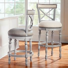 Griffith X-Back Swivel Bar and Counter Stool