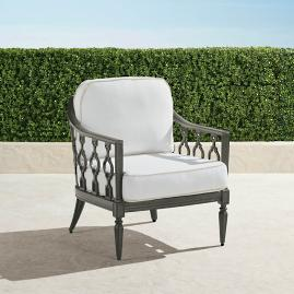 Avery Lounge Chair with Cushions in Slate Finish