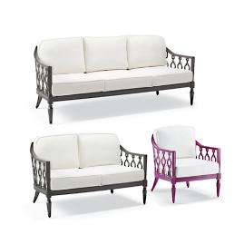 Avery 3-pc. Sofa Set in Fuchsia Finish