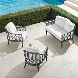 Avery 3-pc. Loveseat Set in Slate Finish