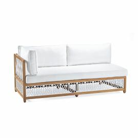 Catawba Left-Facing Sofa with Cushions in White Finish