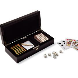 Ercolano Handmade Italian Card and Dice Game Set