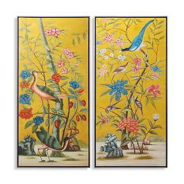 Paradiso Diptych Oil on Canvas