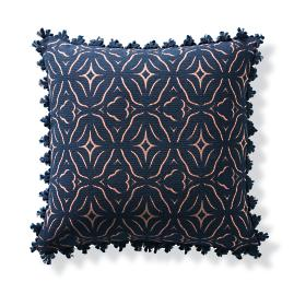 Chiseled Fret Petal Outdoor Pillow
