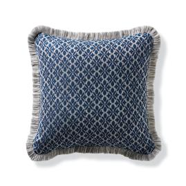 Petite Flourette Navy Outdoor Pillow