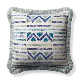 Porto Novo Cobalt Outdoor Pillow