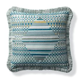 Prism Geo Peacock Outdoor Pillow
