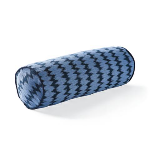 Dawei Stripe Air Blue Outdoor Bolster Pillow