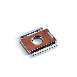 Brizard Square Cigar Cutter with Leather Holder