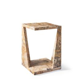 Petrified Wood Side Table by Porta Forma