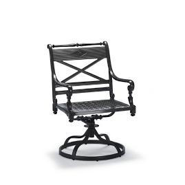 Carlisle Swivel Dining Arm Chair in Onyx Finish