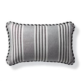 Berwyn Stripe Onyx Outdoor Lumbar Pillow