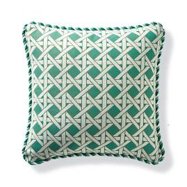 Geo Trellis Gingko Outdoor Lumbar Pillow