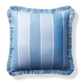 Bayview Stripe Indoor/Outdoor Pillow - Air Blue