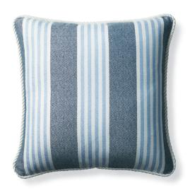 Berwyn Stripe Air Blue Outdoor Pillow