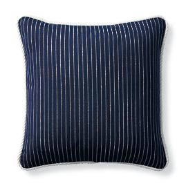 Cara Stripe Indigo Outdoor Pillow