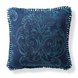 Fresco Frame Indigo Outdoor Pillow