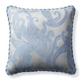 Hampton Paisley Air Blue Indoor/Outdoor Pillow