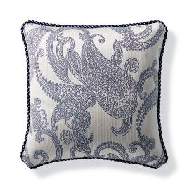 Hampton Paisley Navy Outdoor Pillow