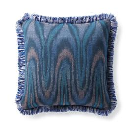 Luminous Ikat Indigo Outdoor Pillow