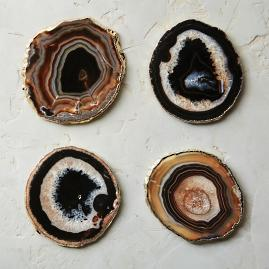 Large Agate Coasters, Set of Four