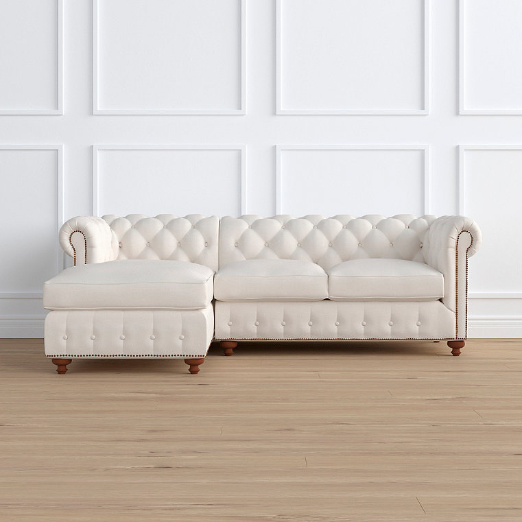 Barrow Chesterfield 2-pc. Left Arm Facing Chaise Sectional