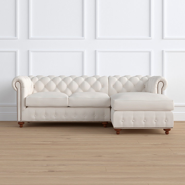 Barrow Chesterfield 2-pc. Right Arm Facing Chaise Sectional