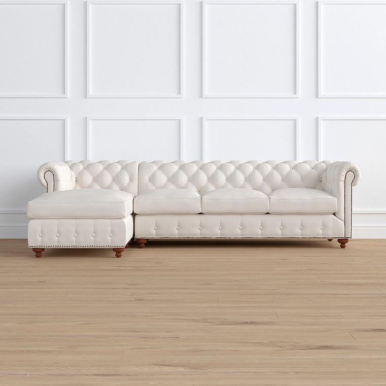 Barrow Chesterfield 2-pc. Left Arm Facing Chaise/Sofa Sectional