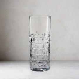 Aubrey Cut Crystal Highball Glasses, Set of Two