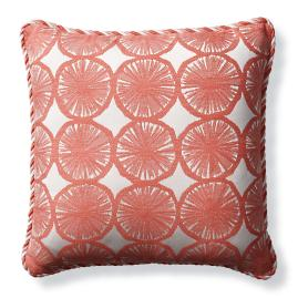 Citrus Splash Peony Outdoor Pillow