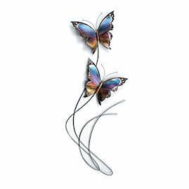 Butterfly Elegance Flight Path III Wall Art