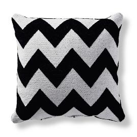 Harper Chevron Onyx Square Outdoor Pillow