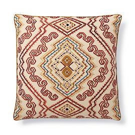 Abyssinia Embroidered Decorative Pillow by Dransfield & Ross