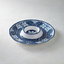 Mediterranean Tile Chip and Dip Server
