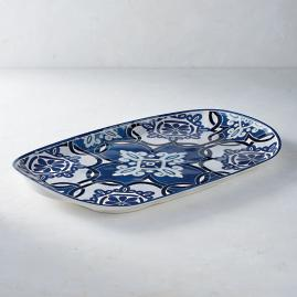 Mediterranean Tile Oval Serving Platter