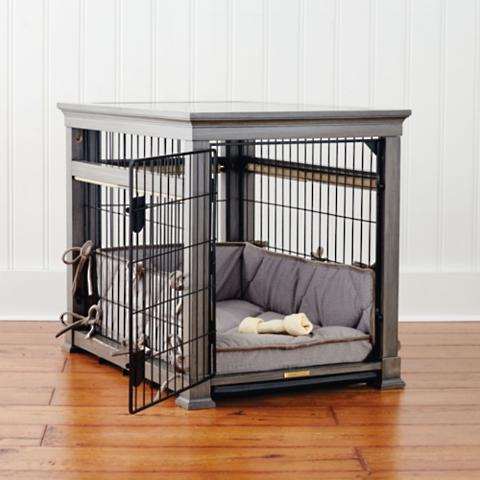 luxury dog crates furniture. Luxury Pet Residence Dog Crate In Distressed Grey Crates Furniture