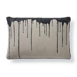 Disperse Onyx Lumbar Pillow by Porta Forma
