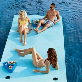Aqua Beach Wave Floating Party Mat