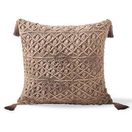 Halla Macrame Tassel Decorative Pillow
