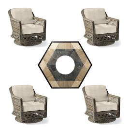Hampton Swivel 5-pc. Fire Chat Set with Nova
