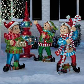Ugly Xmas Sweater Elves, Set of Three